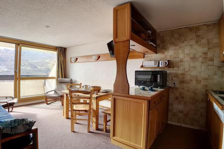 Location au ski Appartement duplex 2 pièces 5 personnes (303) - Residence Les Evons - Les Menuires - Canapé