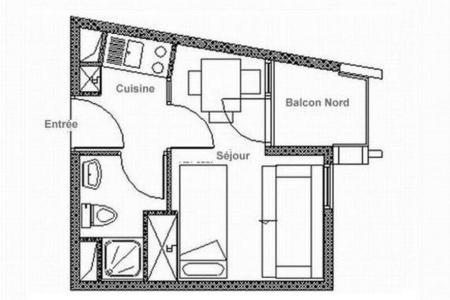 Location au ski Studio 3 personnes (317) - Résidence les Soldanelles B - Les Menuires