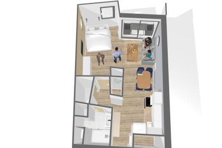 Location au ski Appartement 2 pièces 4 personnes (414) - Résidence les Soldanelles B - Les Menuires