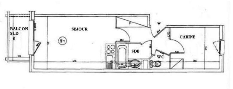 Аренда на лыжном курорте Апартаменты 2 комнат 4 чел. (1215) - Résidence les Valmonts - Les Menuires - план
