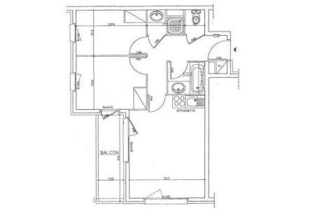 Аренда на лыжном курорте Апартаменты 3 комнат 6 чел. (205) - Résidence les Valmonts - Les Menuires - план