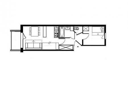 Аренда на лыжном курорте Апартаменты 2 комнат 4 чел. (408) - Résidence les Valmonts - Les Menuires - план