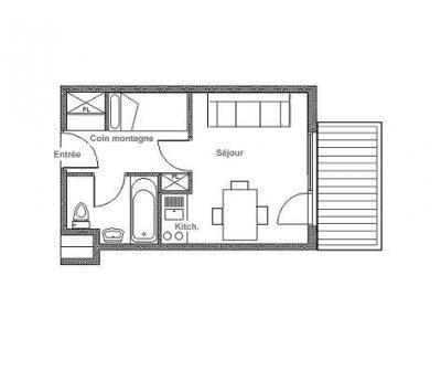 Location au ski Studio cabine 3 personnes (408) - Residence Median - Les Menuires