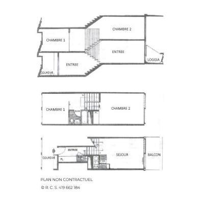 Location au ski Appartement triplex 3 pièces 8 personnes (417) - Résidence Nant Benoit - Les Menuires - Plan