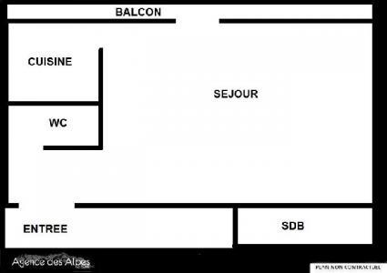 Location au ski Studio 4 personnes (32) - Residence Oisans - Les Menuires - Plan