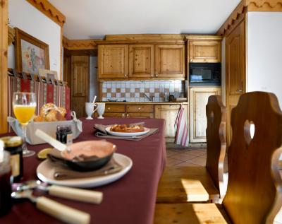 Location au ski Residence P&v Premium Les Alpages De Reberty - Les Menuires - Cuisine ouverte