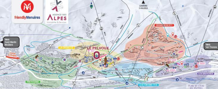 Location au ski Résidence Pelvoux - Les Menuires - Plan