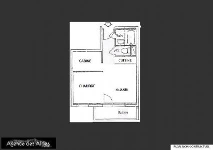 Location au ski Studio coin montagne 3 personnes (402) - Residence Sarvan - Les Menuires - Plan