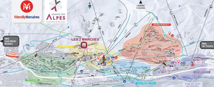 Location au ski Résidence Trois Marches - Les Menuires - Plan