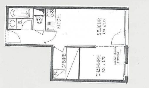 Location au ski Studio cabine 4 personnes (120) - Residence Villaret - Les Menuires