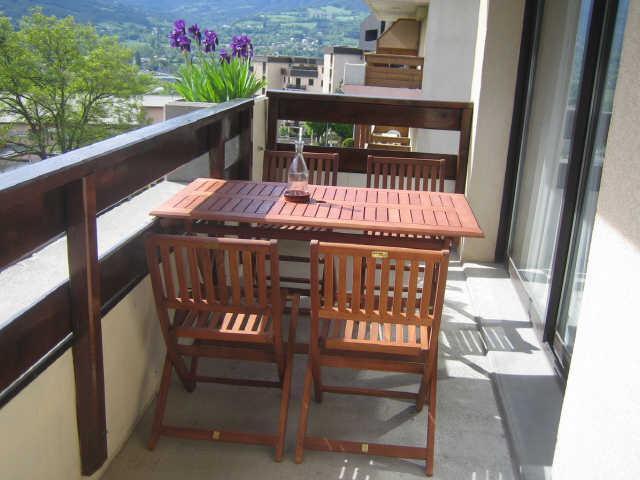 Location au ski Studio cabine 4 personnes (20) - Residence Campanules - Les Orres - Balcon