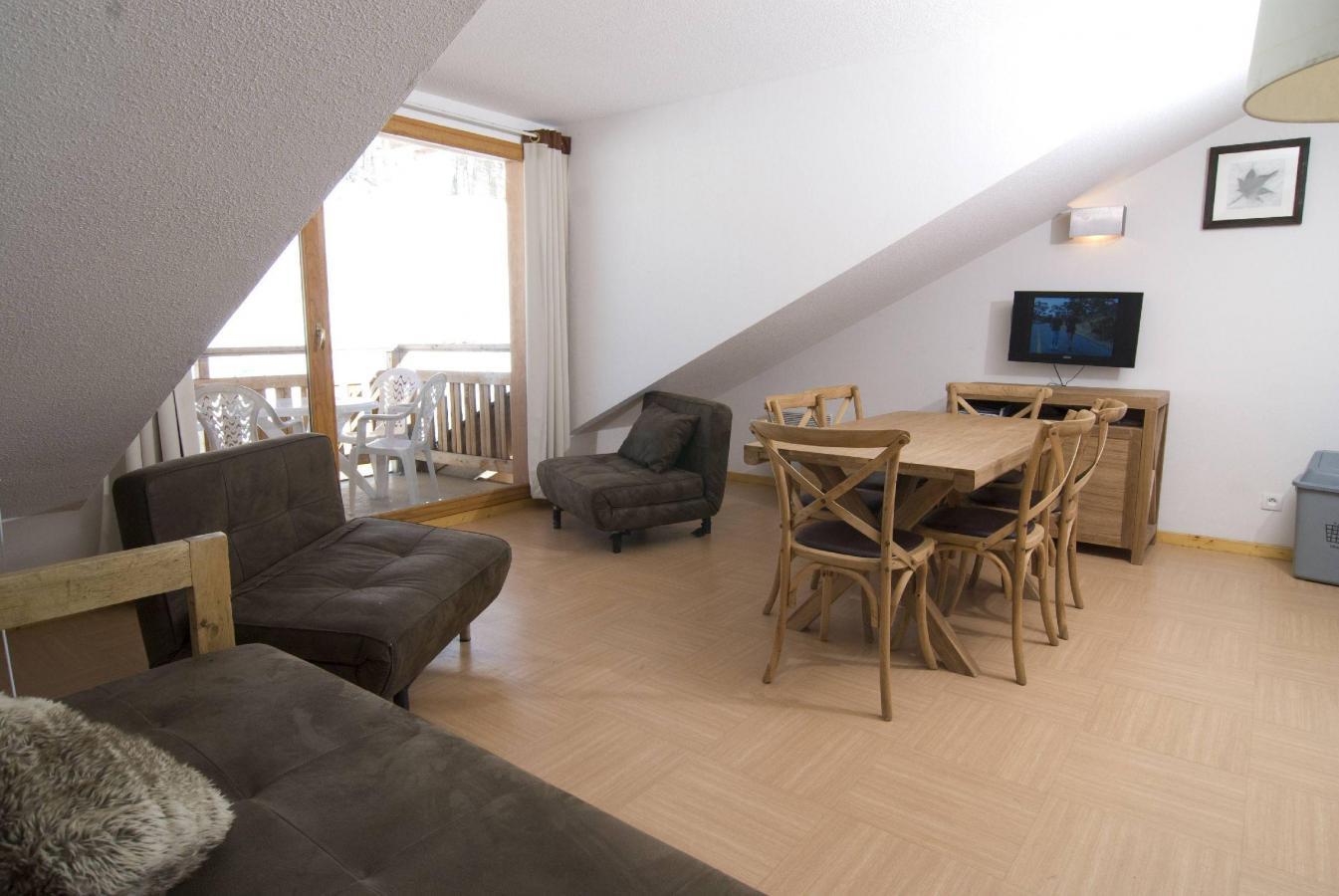 Location au ski Residence Le Balcon Des Airelles - Les Orres - Séjour