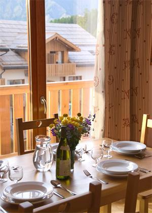 Rent in ski resort Residences La Foret D'or - Les Orres - Dining area