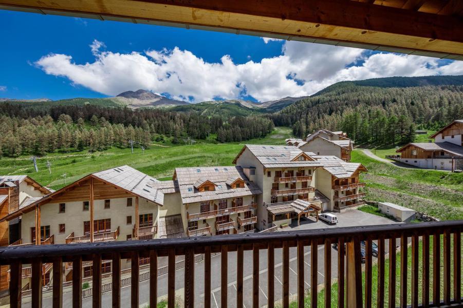 Ski verhuur Les Chalets de Bois Méan - Les Orres - Balkon