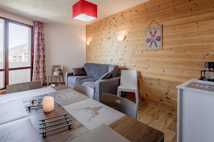 Location au ski Appartement 3 pièces 8 personnes - Résidence le 1650 - Les Orres - Canapé-lit
