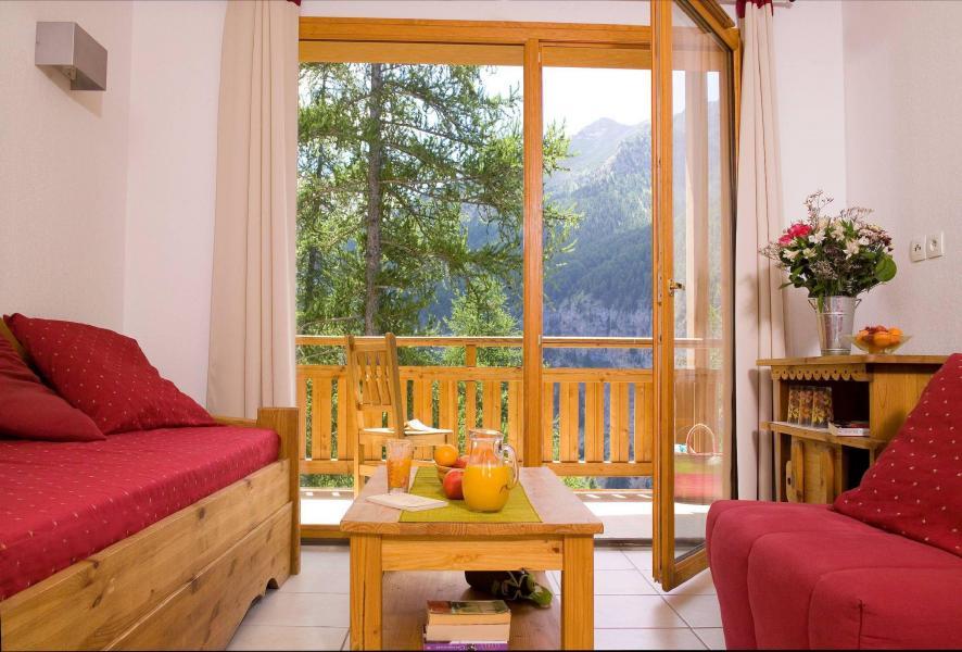 Location au ski Résidence le Balcon des Airelles - Les Orres - Coin séjour