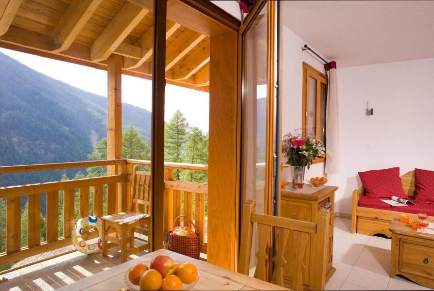 Location au ski Résidence le Balcon des Airelles - Les Orres - Terrasse