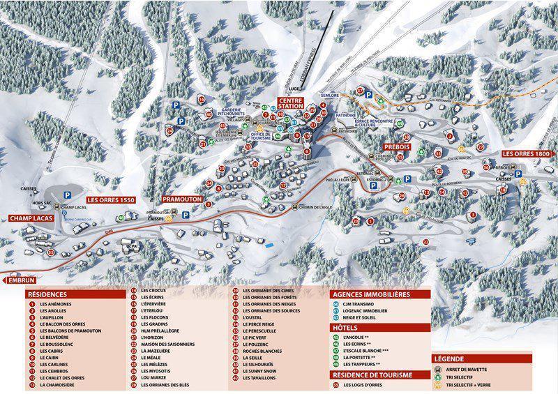 Location au ski Studio coin montagne 6 personnes (283) - Résidence le Belvédère - Les Orres - Plan