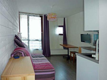 Location au ski Studio 2 personnes (071) - Résidence le Boussolenc - Les Orres - Canapé