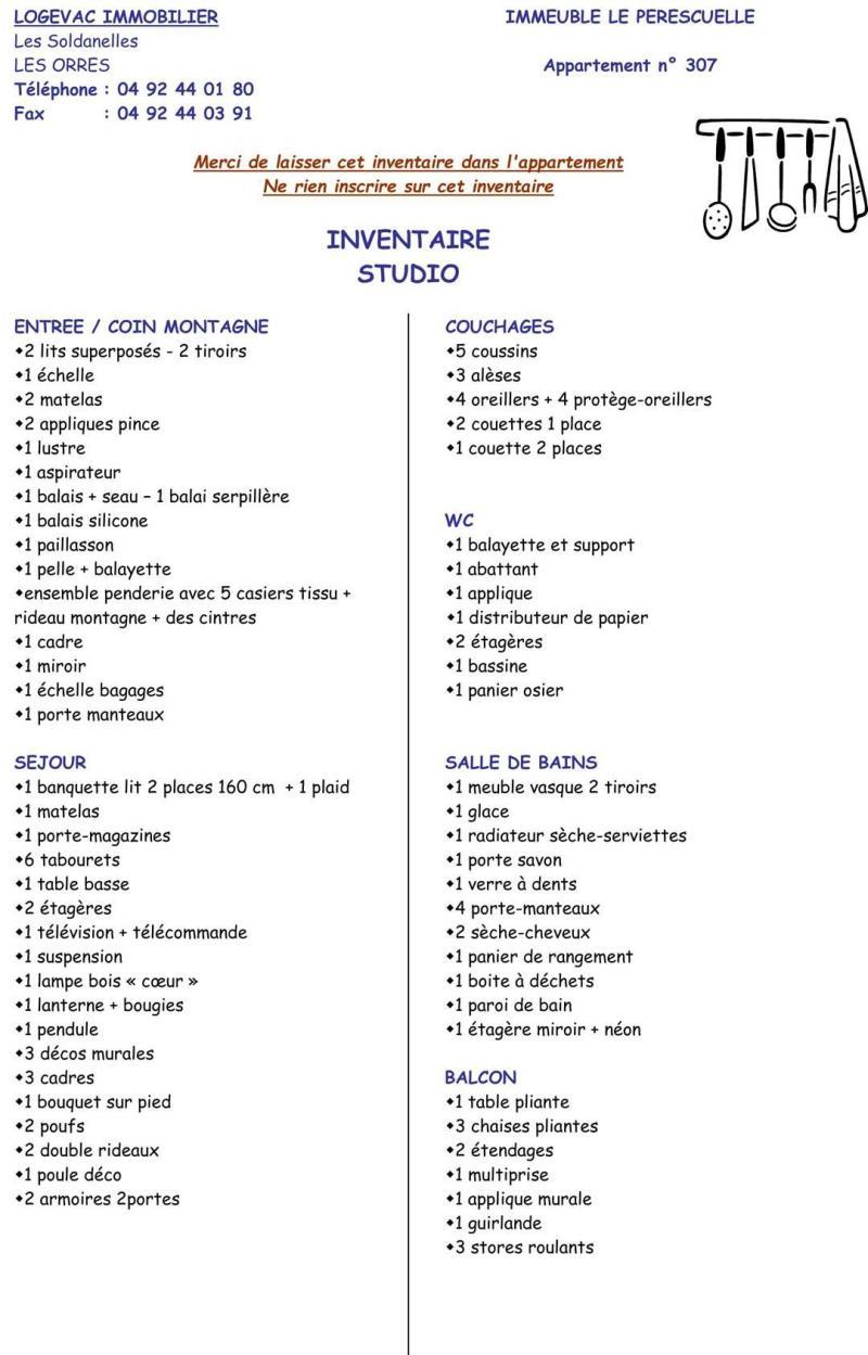Wynajem na narty Studio z alkową 4 osoby (432) - Résidence le Perescuelle - Les Orres