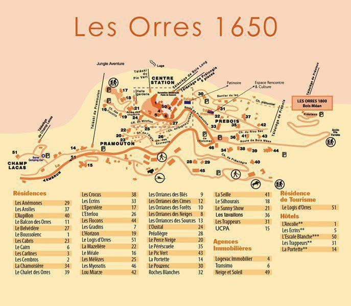 Location au ski Studio 4 personnes (324) - Résidence le Silhourais - Les Orres