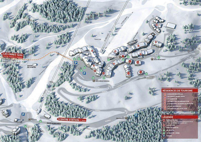 Location au ski Appartement 2 pièces coin montagne 5 personnes (052) - Résidence les Cembros - Les Orres - Plan