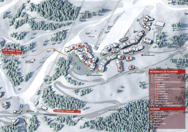 Location au ski Appartement 2 pièces cabine 6 personnes (487) - Résidence les Erines - Mélèzes d'Or - Les Orres
