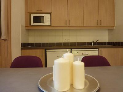 Rent in ski resort 2 room apartment 4 people (500) - Résidence Balcon des Airelles - Les Orres - Table