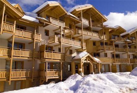 Location au ski Residence Le Balcon Des Airelles - Les Orres - Extérieur hiver