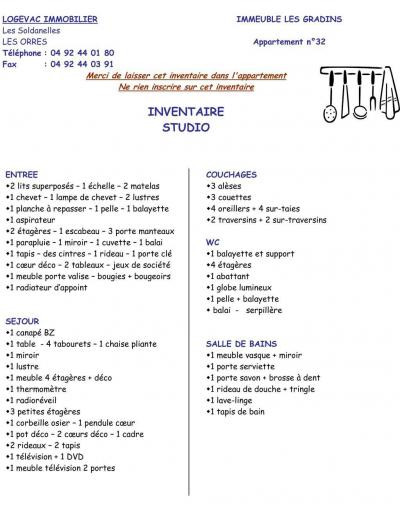Wynajem na narty Studio z alkową 4 osoby (114) - Résidence les Gradins - Les Orres