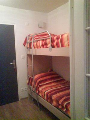 Rent in ski resort Residences La Foret D'or - Les Orres - Bunk beds