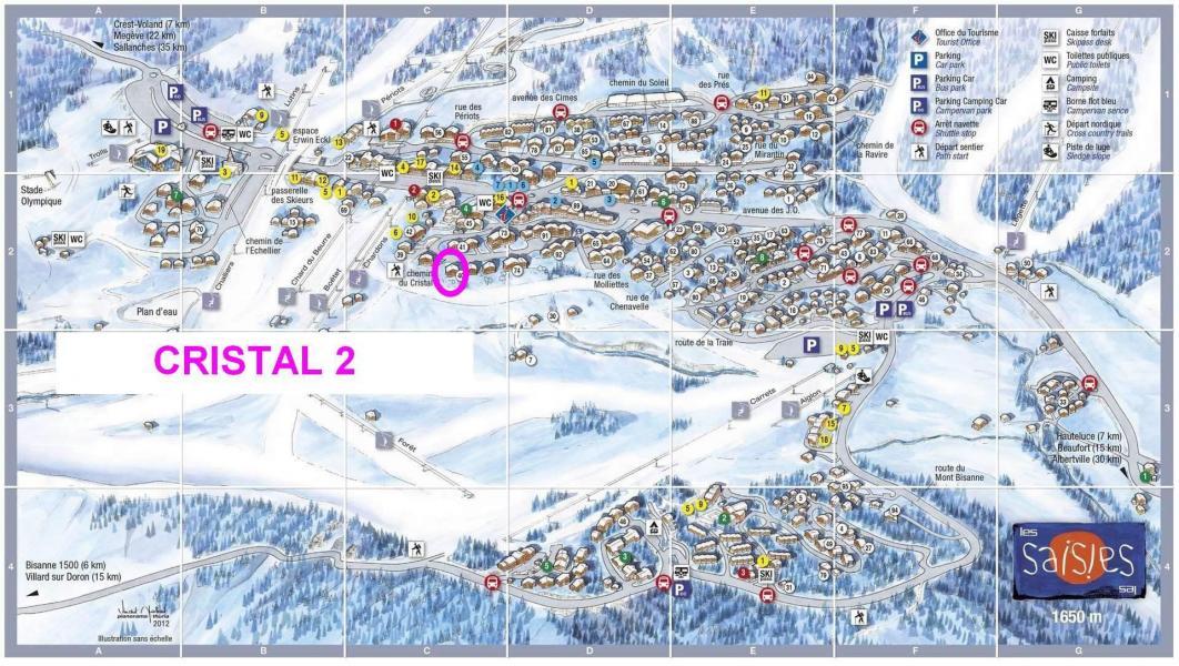 Alquiler al esquí Chalet Cristal 2 - Les Saisies - Plano