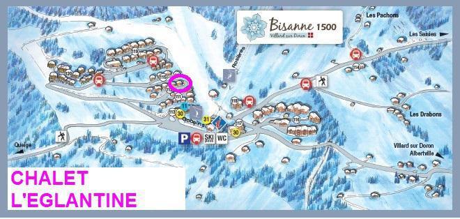 Location au ski Chalet l'Eglantine - Les Saisies - Plan