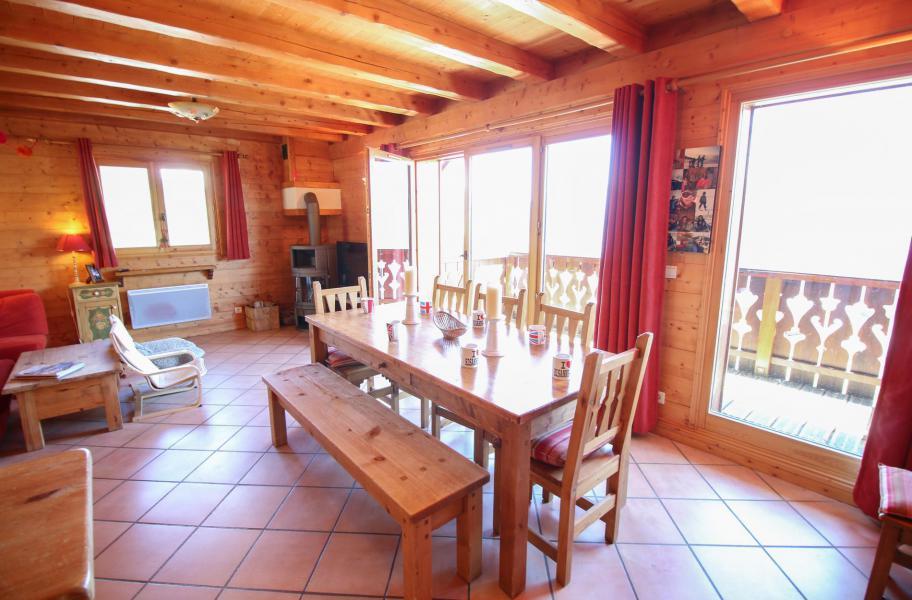 Location au ski Chalet 5 pièces 10 personnes - Chalet l'Eglantine - Les Saisies - Salle à manger