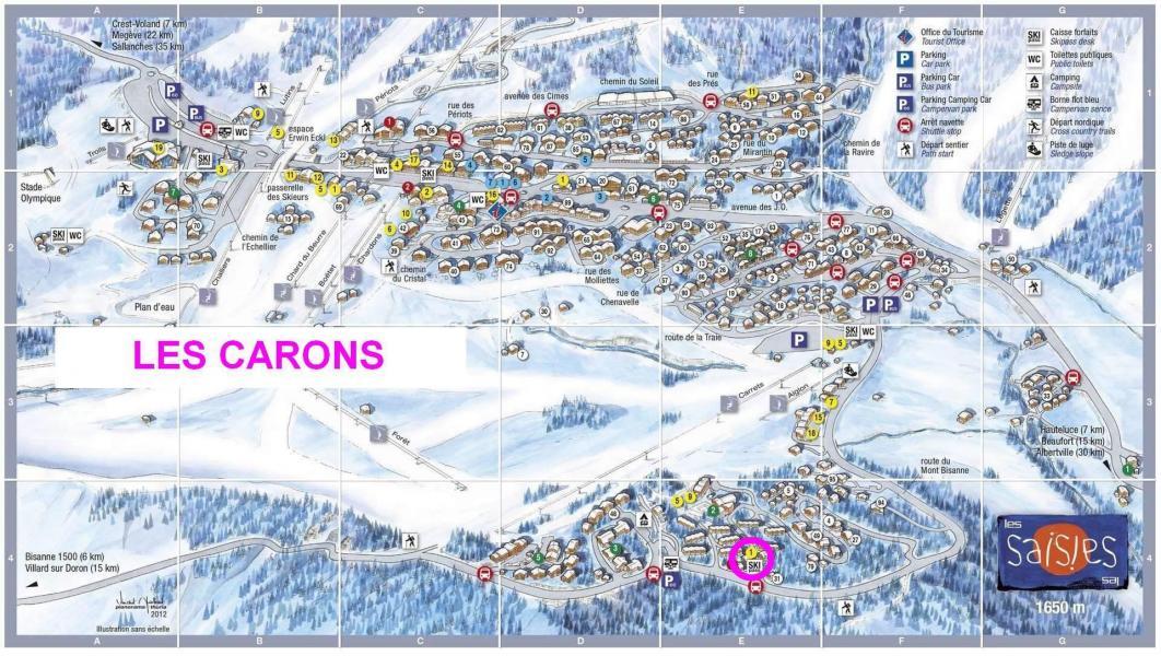 Alquiler al esquí Chalet les Carons - Les Saisies - Plano