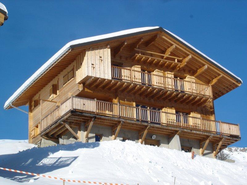 Location au ski Chalet Pierres du Chozal - Les Saisies - Extérieur hiver
