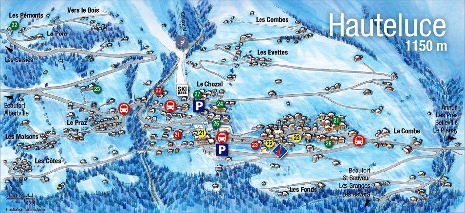 Location au ski Chalet Pierres du Chozal - Les Saisies - Plan