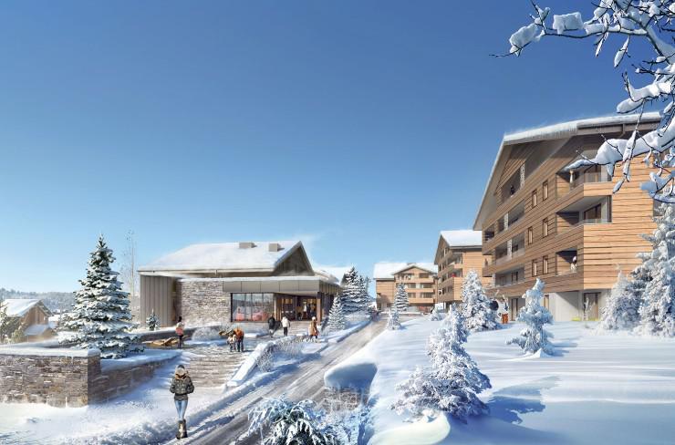 Каникулы в горах Les Chalets des Cimes - Les Saisies - зимой под открытым небом