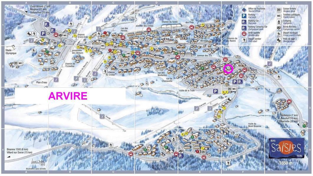 Location au ski Résidence Arvire - Les Saisies - Plan
