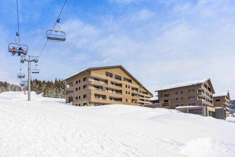 Location au ski Résidence Club MMV Les Chalets des Cîmes - Les Saisies - Extérieur hiver