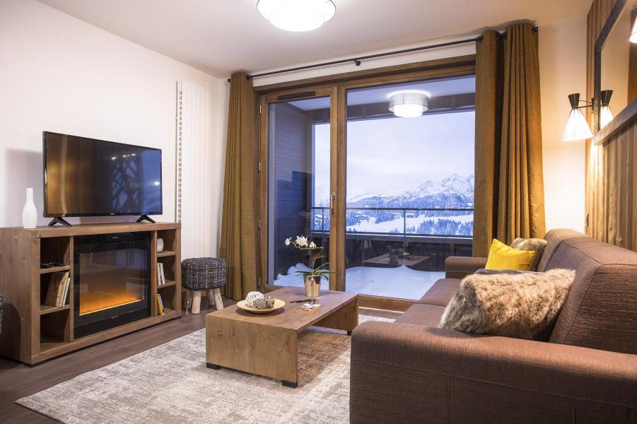 Location au ski Résidence Club MMV Les Chalets des Cîmes - Les Saisies - Coin séjour