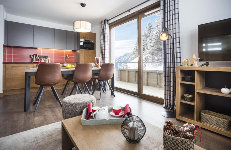 Location au ski Résidence Club MMV Les Chalets des Cîmes - Les Saisies - Cuisine ouverte