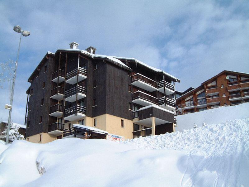 Location au ski Résidence Isabella D - Les Saisies - Extérieur hiver