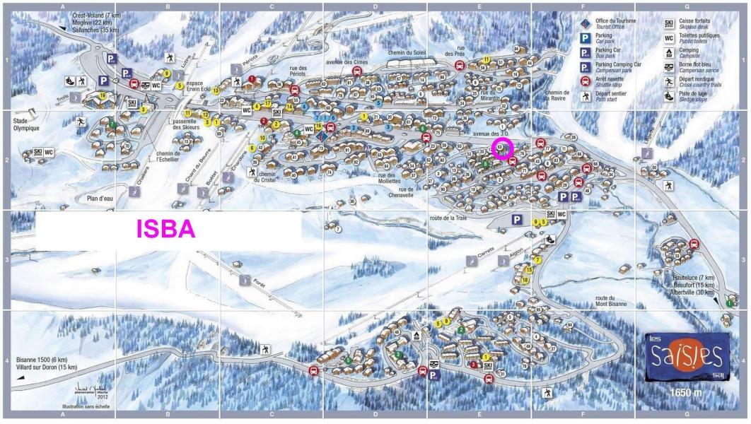 Location au ski Résidence l'Isba - Les Saisies - Plan