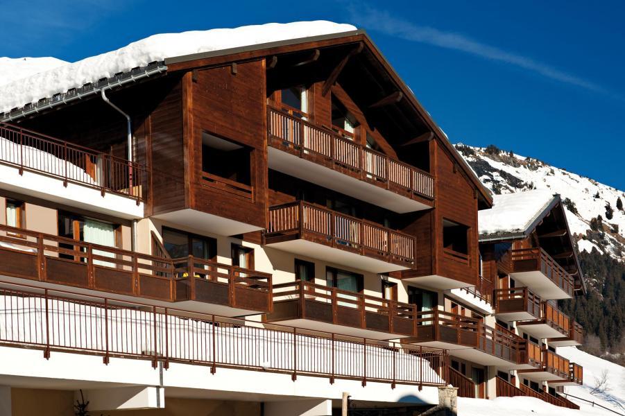 Wynajem na narty Résidence Lagrange les Chalets du Mont Blanc - Les Saisies - Zima na zewnątrz