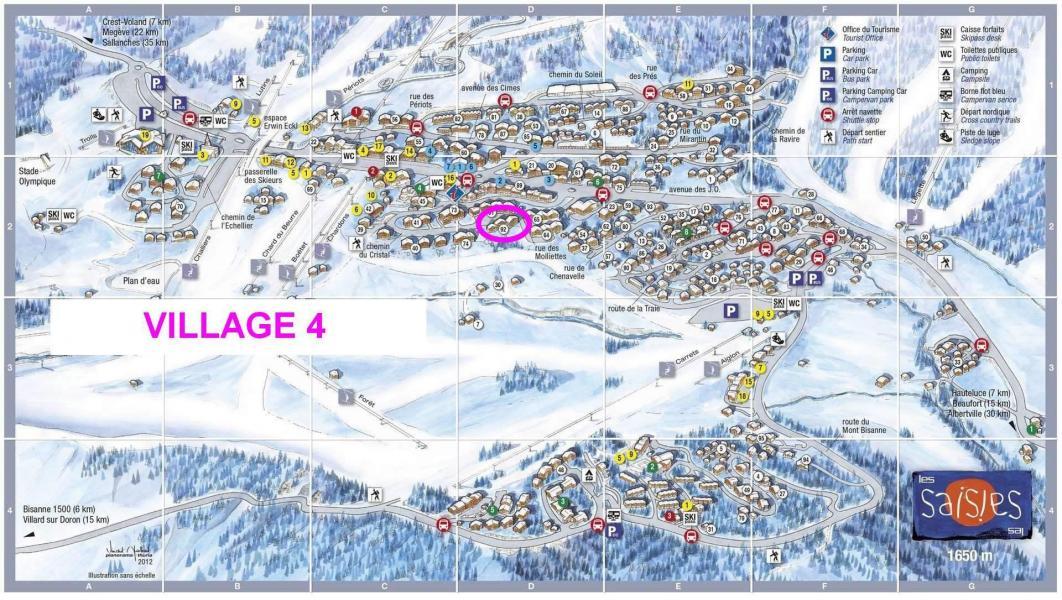 Alquiler al esquí Résidence le Village 4 - Les Saisies - Plano