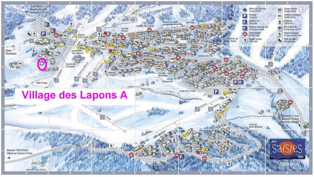 Location au ski Résidence le Village des Lapons A - Les Saisies - Plan