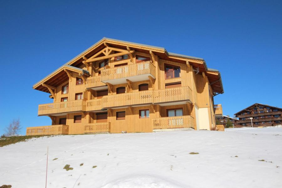 Location au ski Résidence le Village des Lapons A - Les Saisies - Extérieur hiver