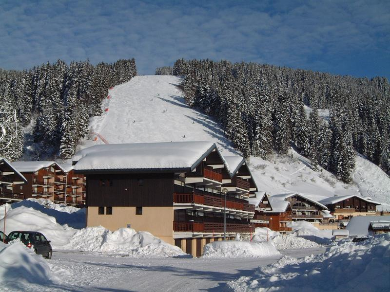 Каникулы в горах Résidence les Mélèzes A - Les Saisies - зимой под открытым небом