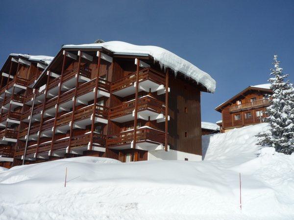 Location au ski Résidence Mont Blanc B - Les Saisies - Extérieur hiver